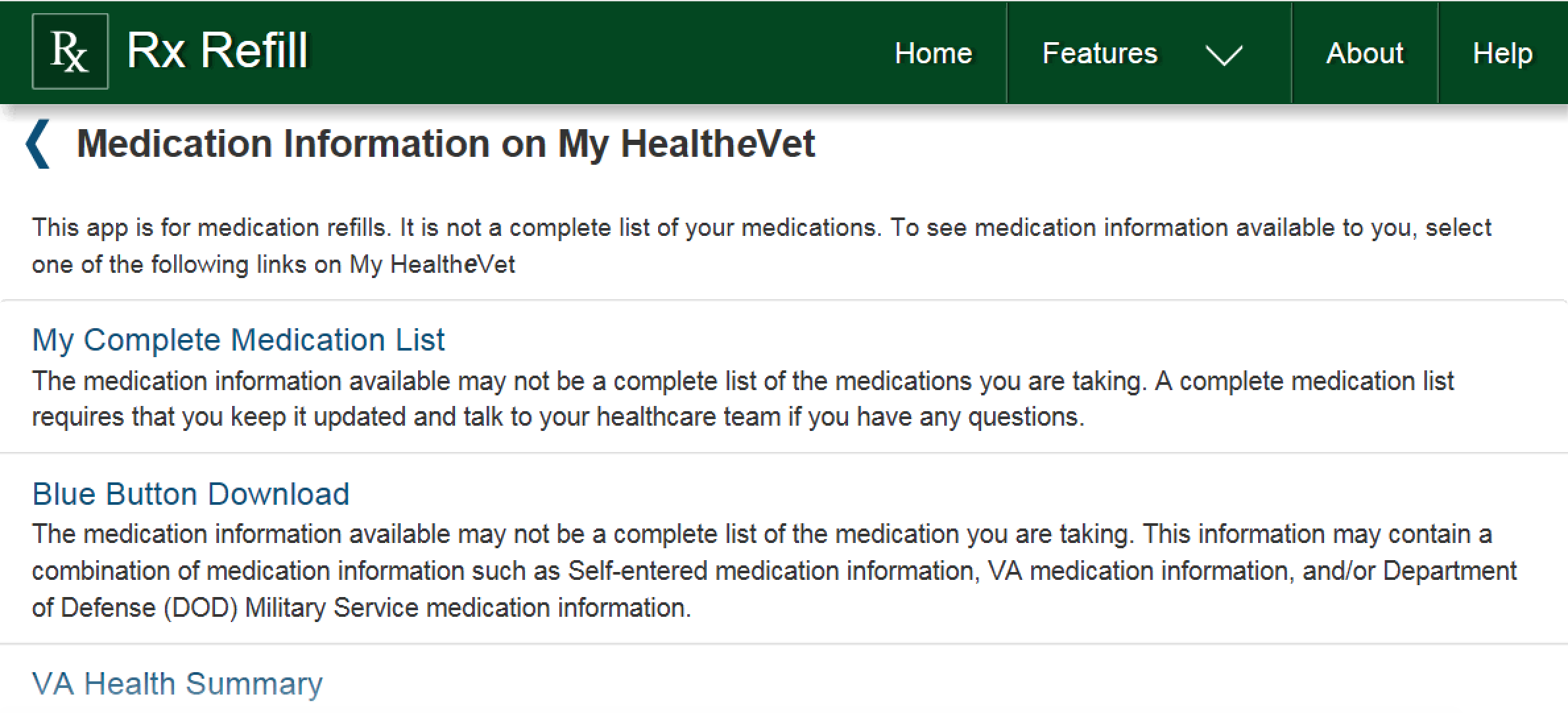 fe9deb7906 Access Medication Information on My HealtheVet