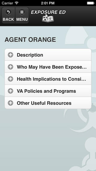 Exposure Ed App Screen Capture