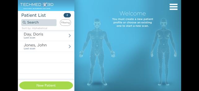 3DsizeMe Home Screenshot