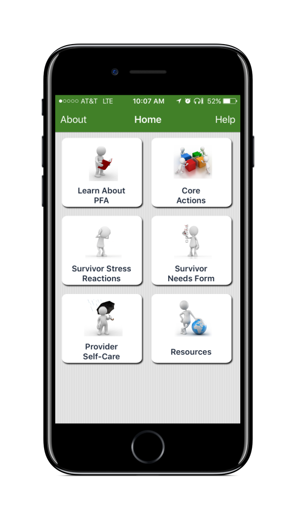 PFA Mobile Home Screen