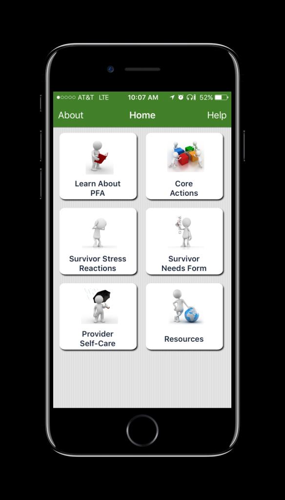 PFA Mobile Home Screen