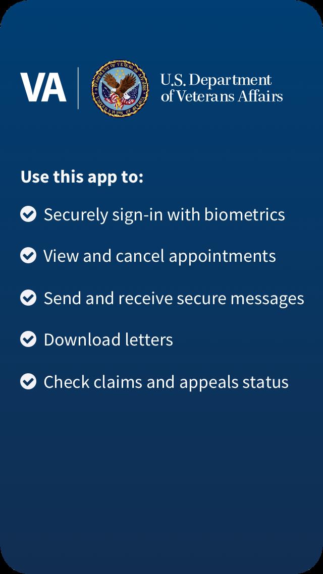 VA: Health and Benefits Home Screen