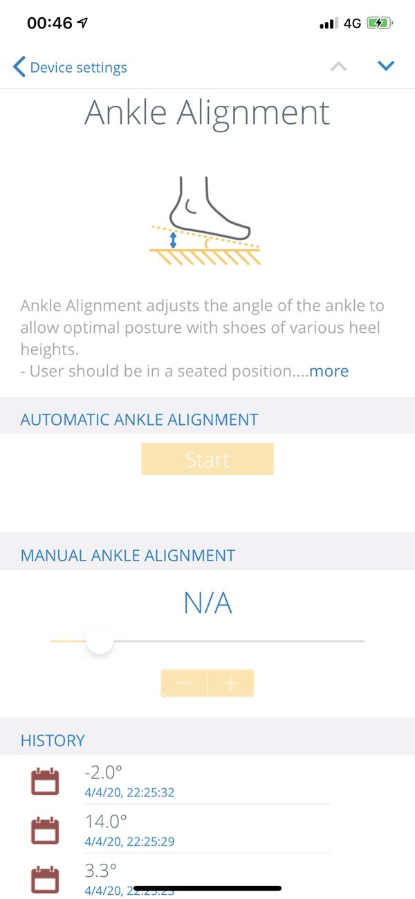 Össur Logic Ankle Alignment Screen