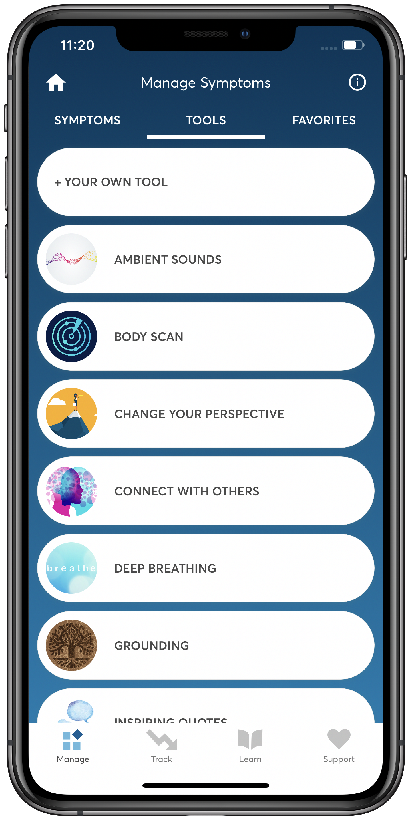 PTSD Coach App Manage Symptoms