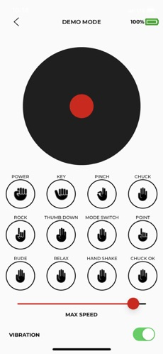 PSYONIC ABILTY Hand Demo Mode Screen