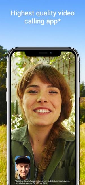 High quality video calling app