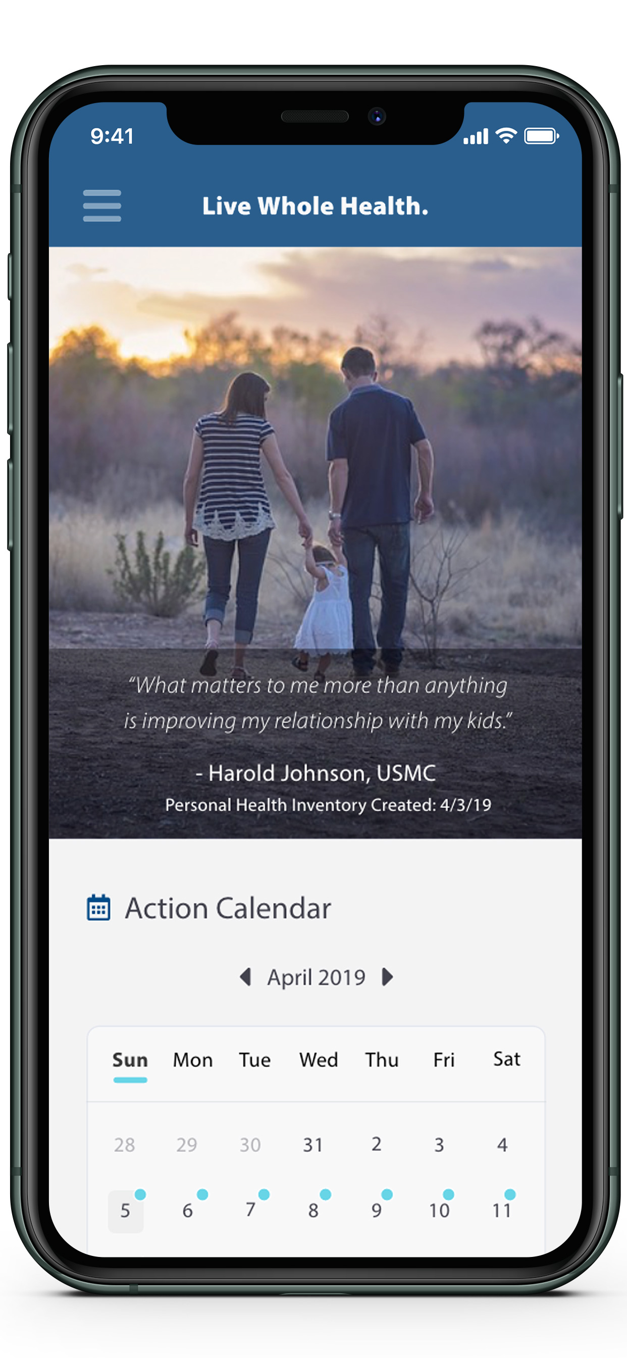 View Calendar Screenshot