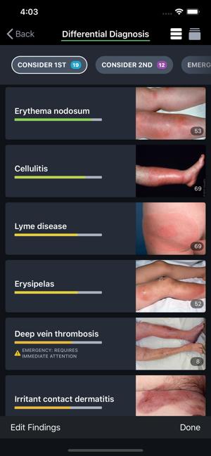 VisualDx Body Differential Diagnosis Screen
