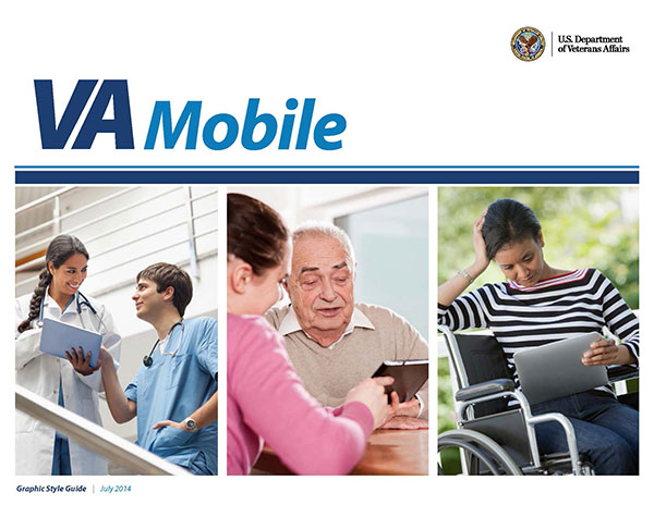 VA Mobile Style Guidelines document cover